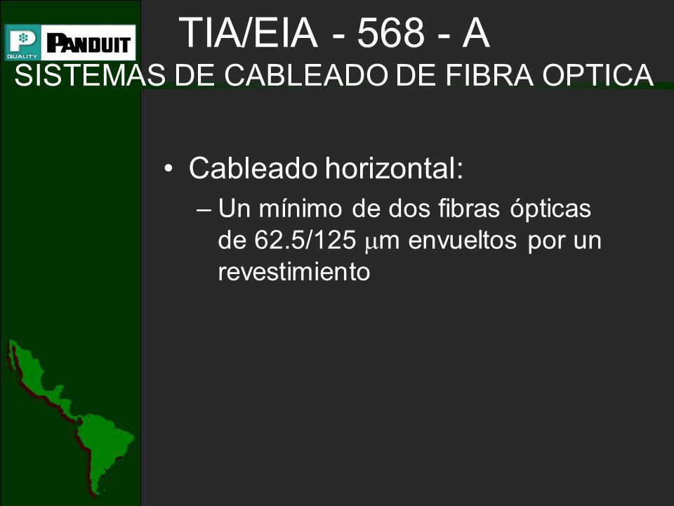 TIA/EIA - 568 - A SISTEMAS DE CABLEADO DE FIBRA OPTICA