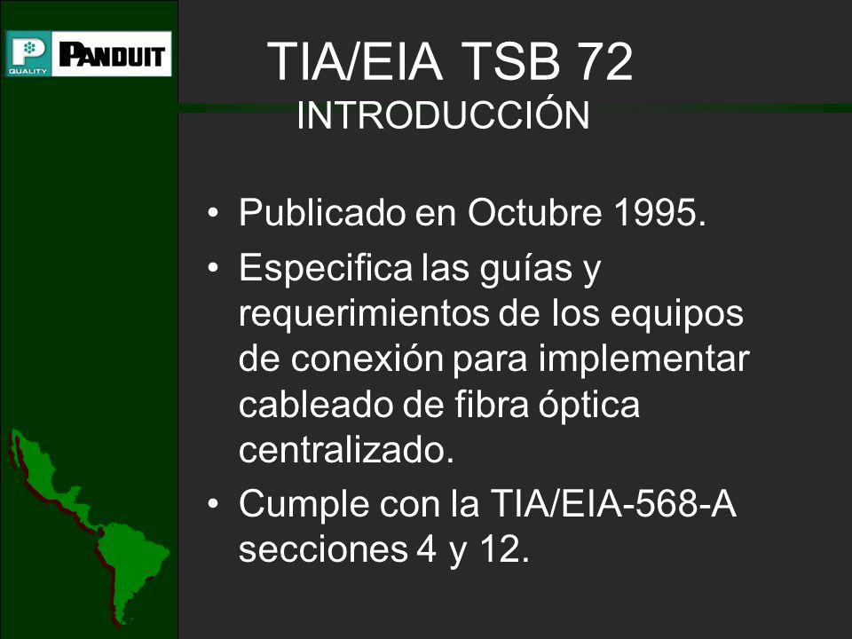 TIA/EIA TSB 72 INTRODUCCIÓN