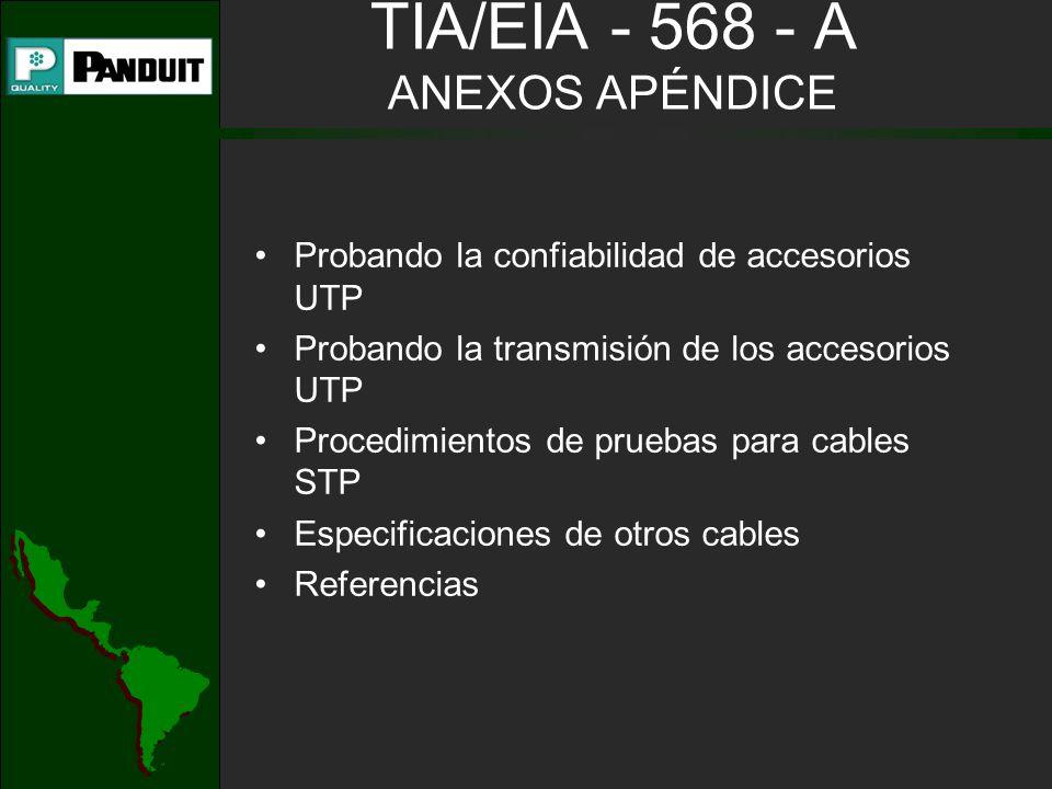 TIA/EIA - 568 - A ANEXOS APÉNDICE
