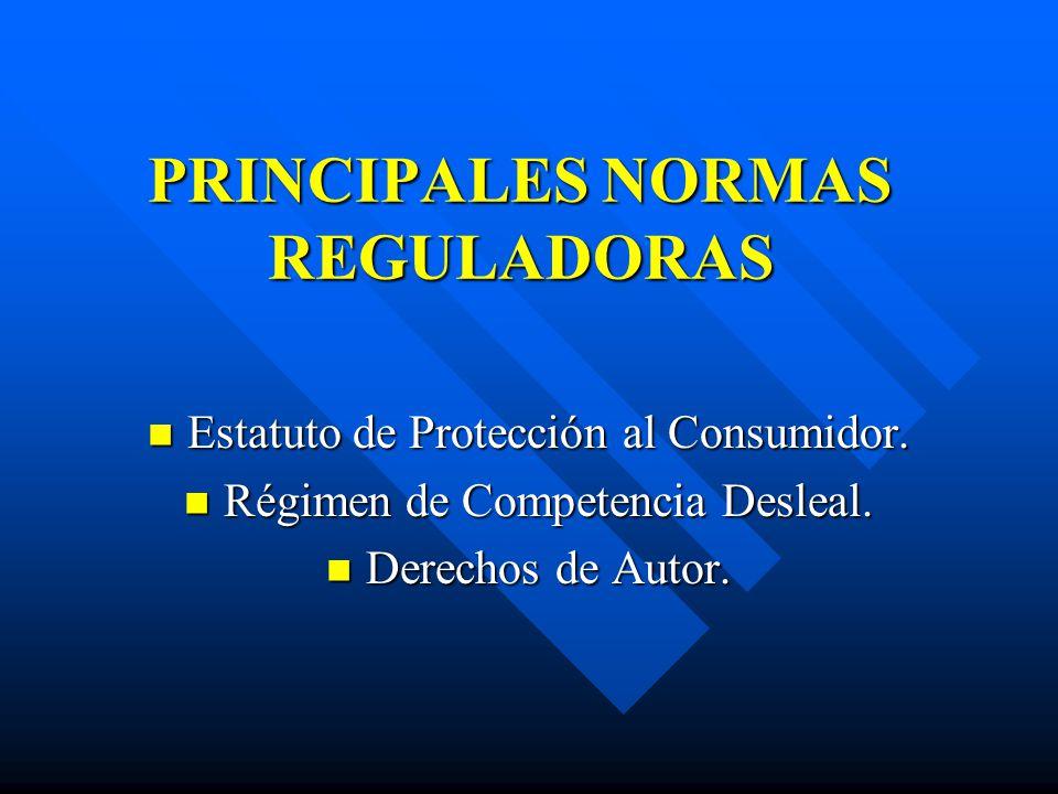PRINCIPALES NORMAS REGULADORAS