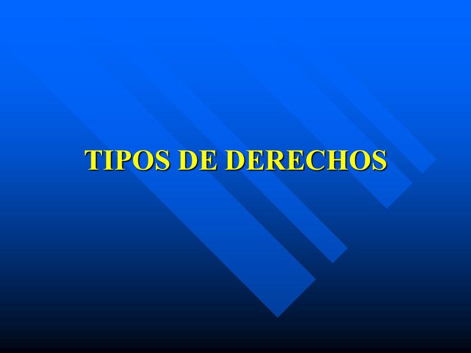 TIPOS DE DERECHOS