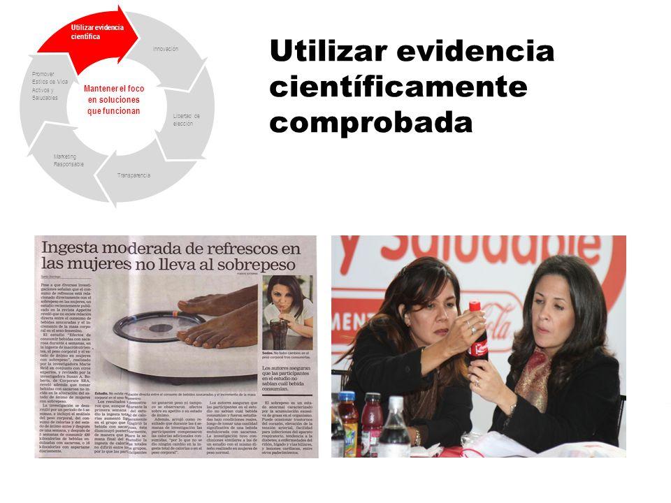 Utilizar evidencia científicamente comprobada