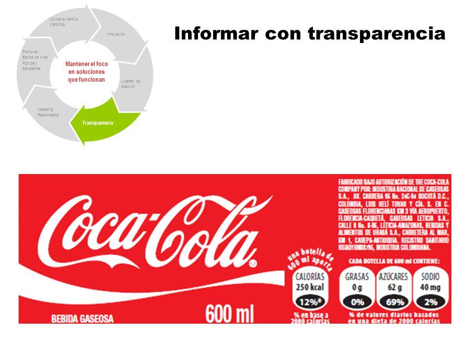Informar con transparencia