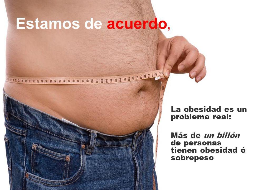 Estamos de acuerdo, La obesidad es un problema real: