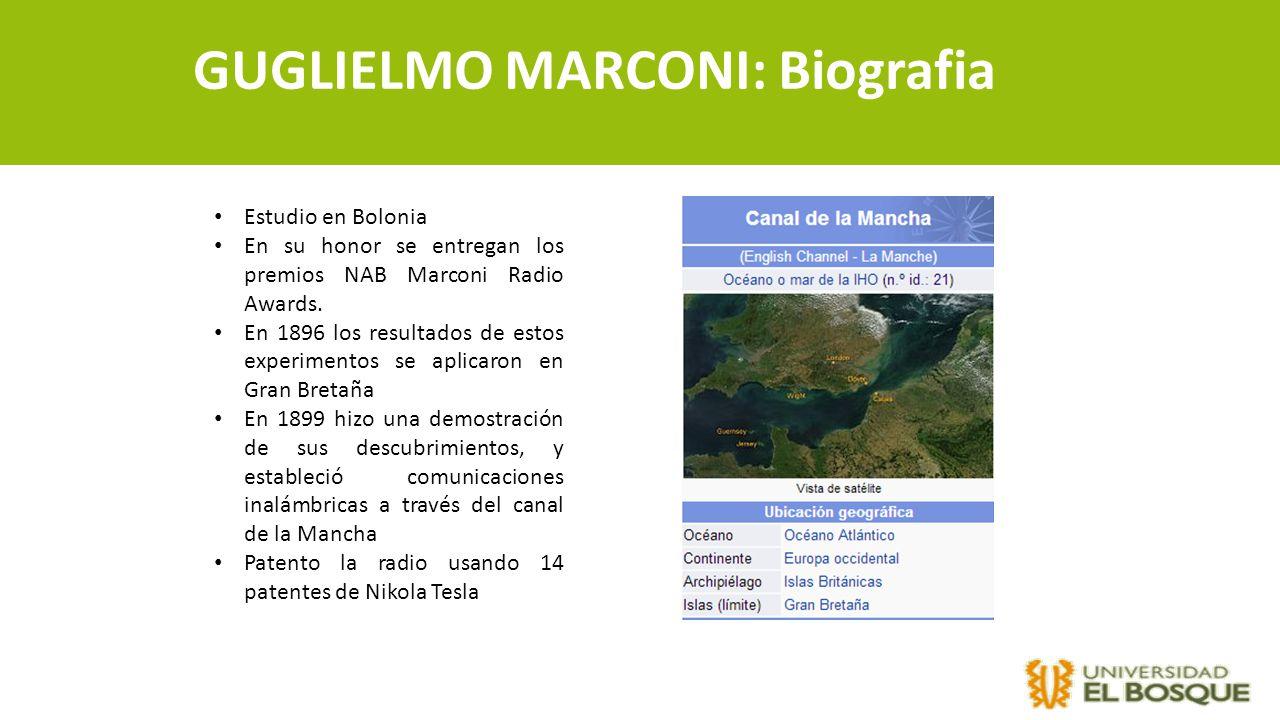 GUGLIELMO MARCONI: Biografia
