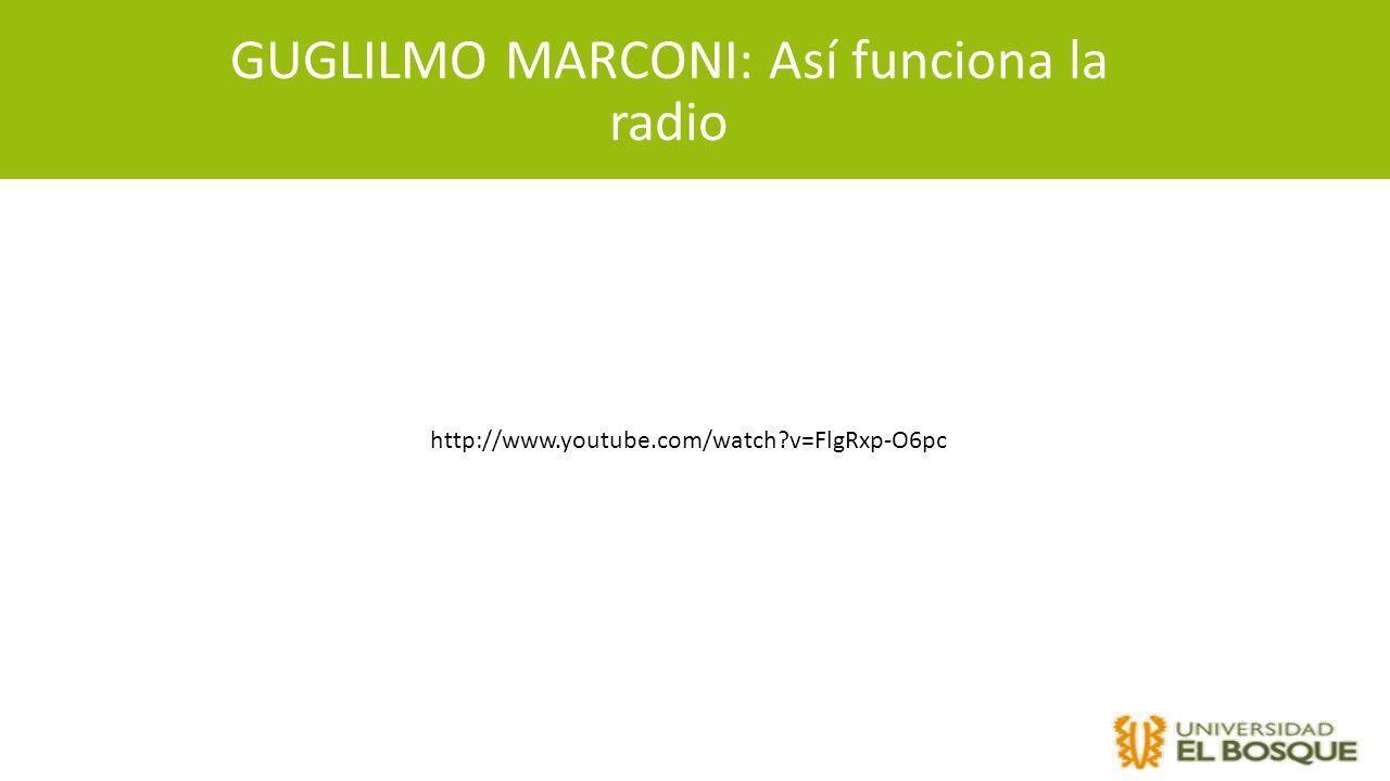 GUGLILMO MARCONI: Así funciona la radio