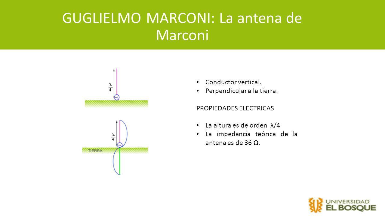 GUGLIELMO MARCONI: La antena de Marconi
