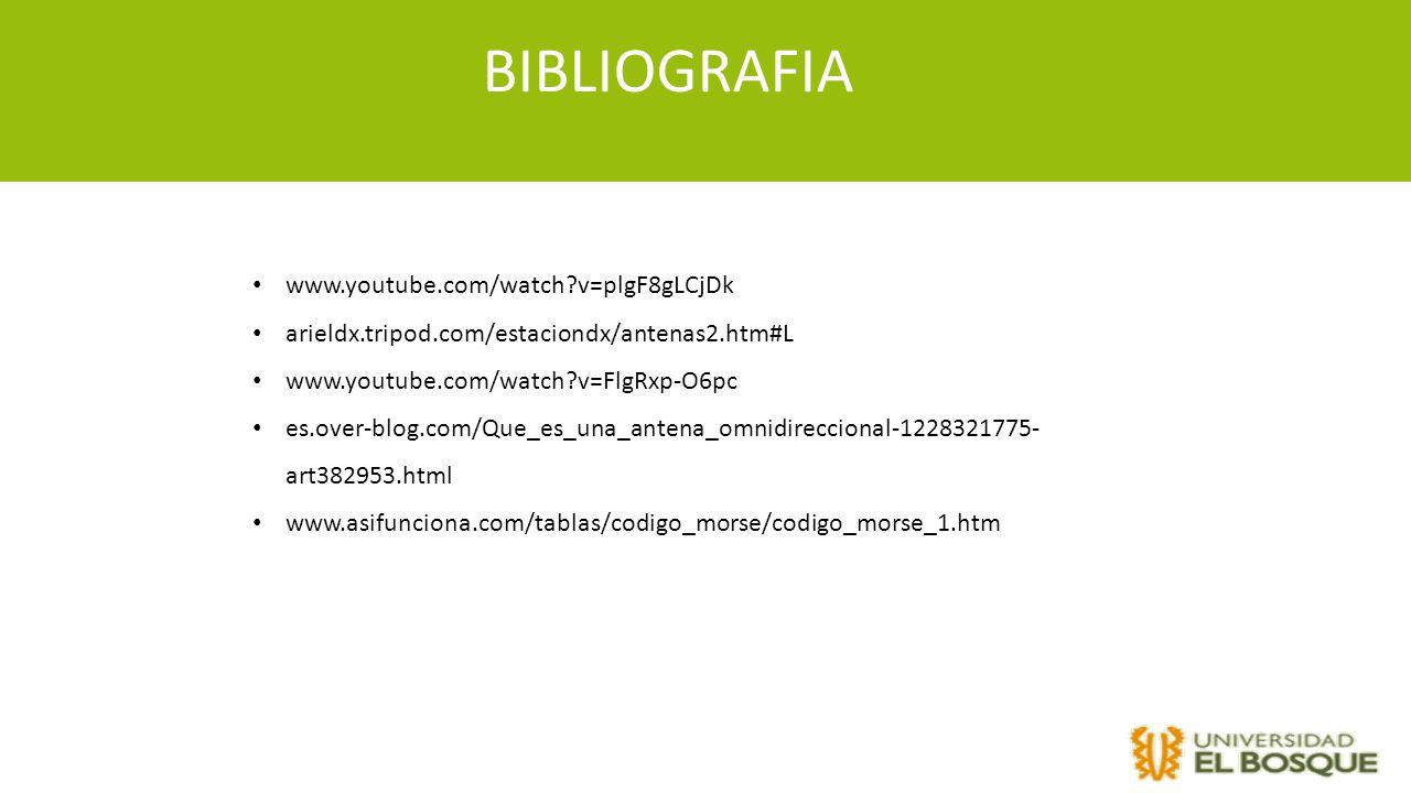 BIBLIOGRAFIA www.youtube.com/watch v=plgF8gLCjDk