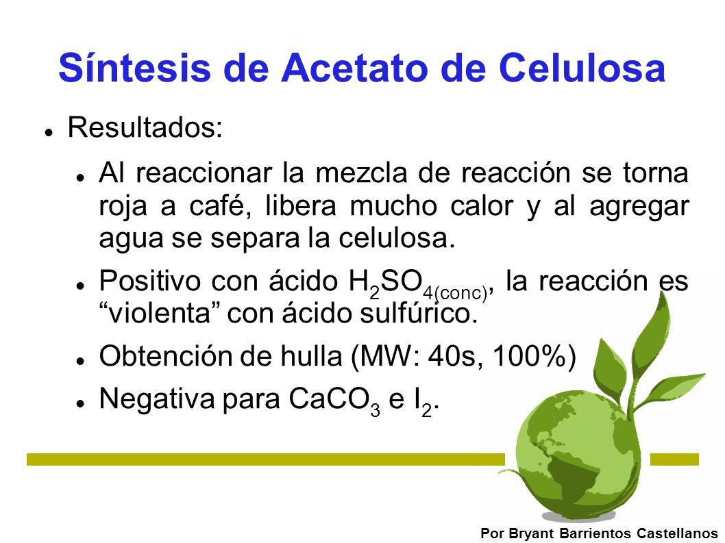 Síntesis de Acetato de Celulosa