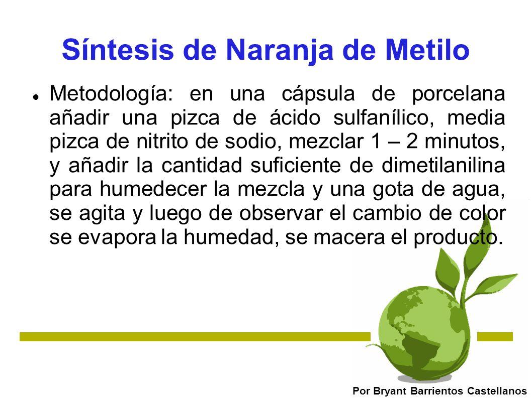 Síntesis de Naranja de Metilo
