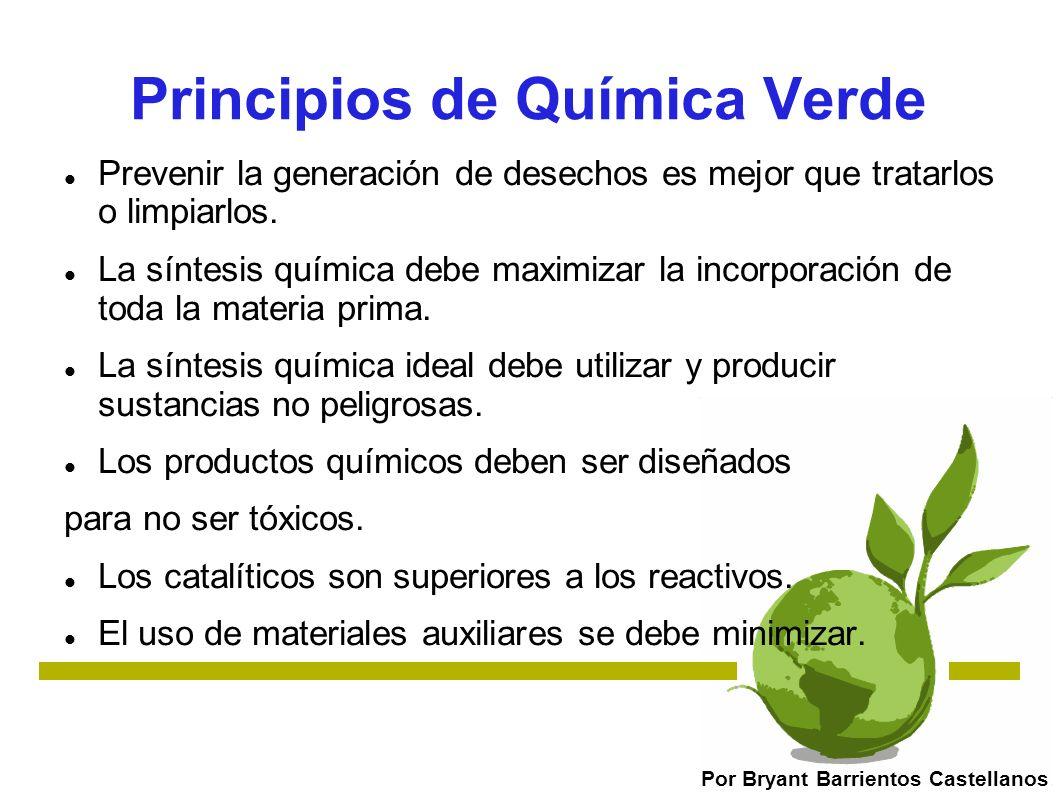 Principios de Química Verde