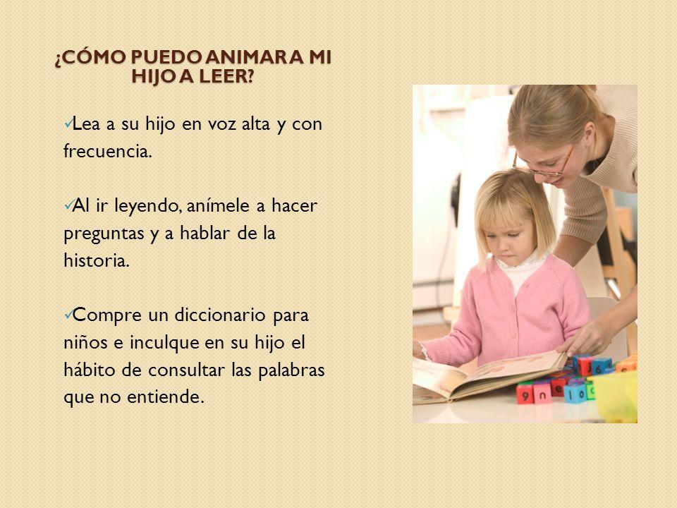 ¿Cómo puedo animar a mi hijo a leer