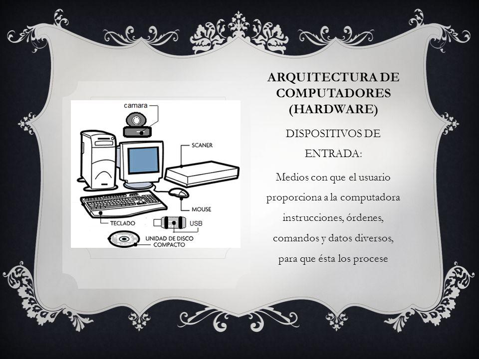 ARQUITECTURA DE COMPUTADORES (hardware)