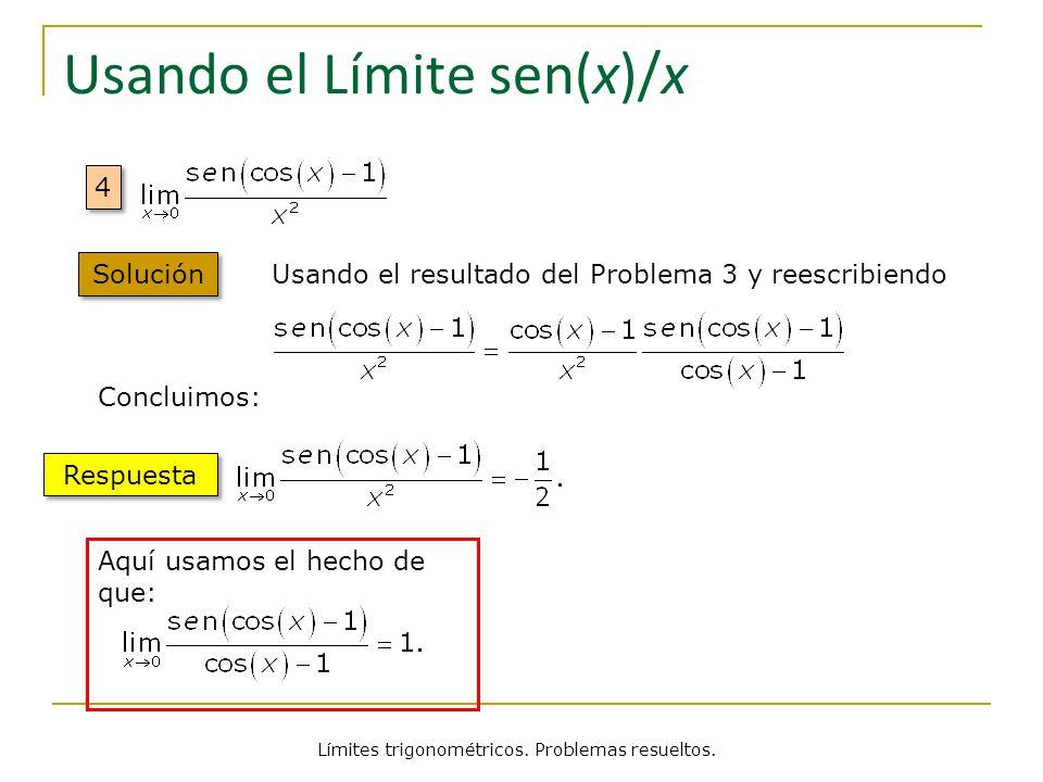 Usando el Límite sen(x)/x