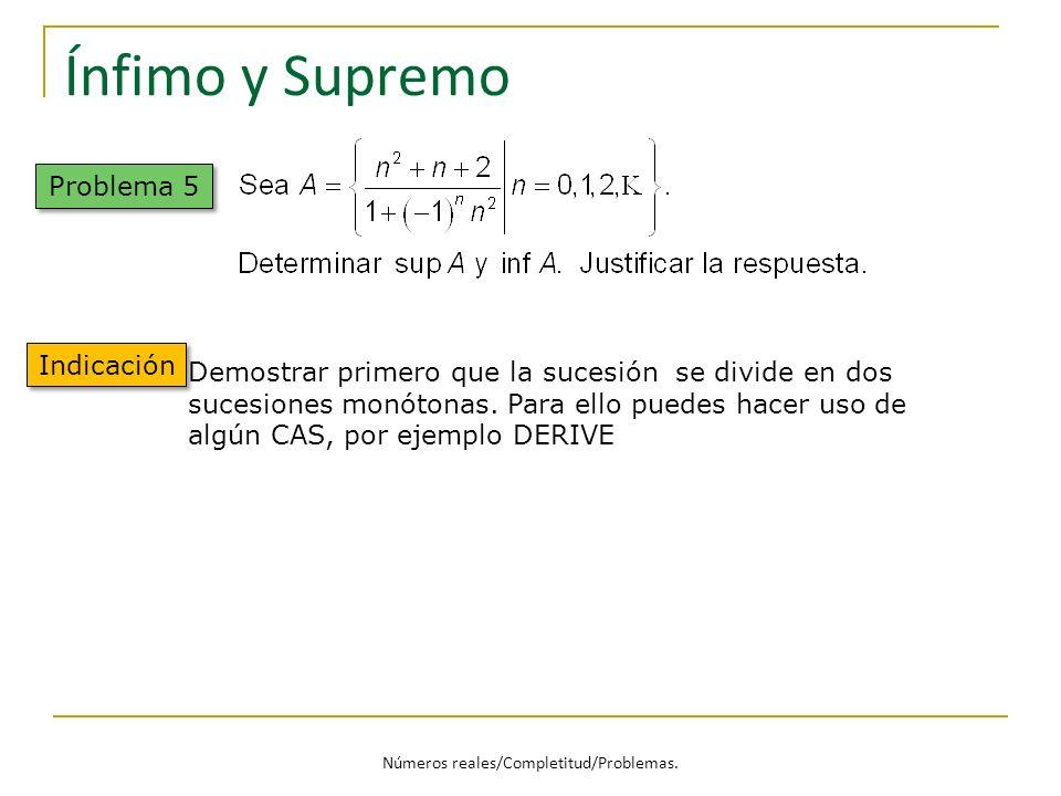 Números reales/Completitud/Problemas.