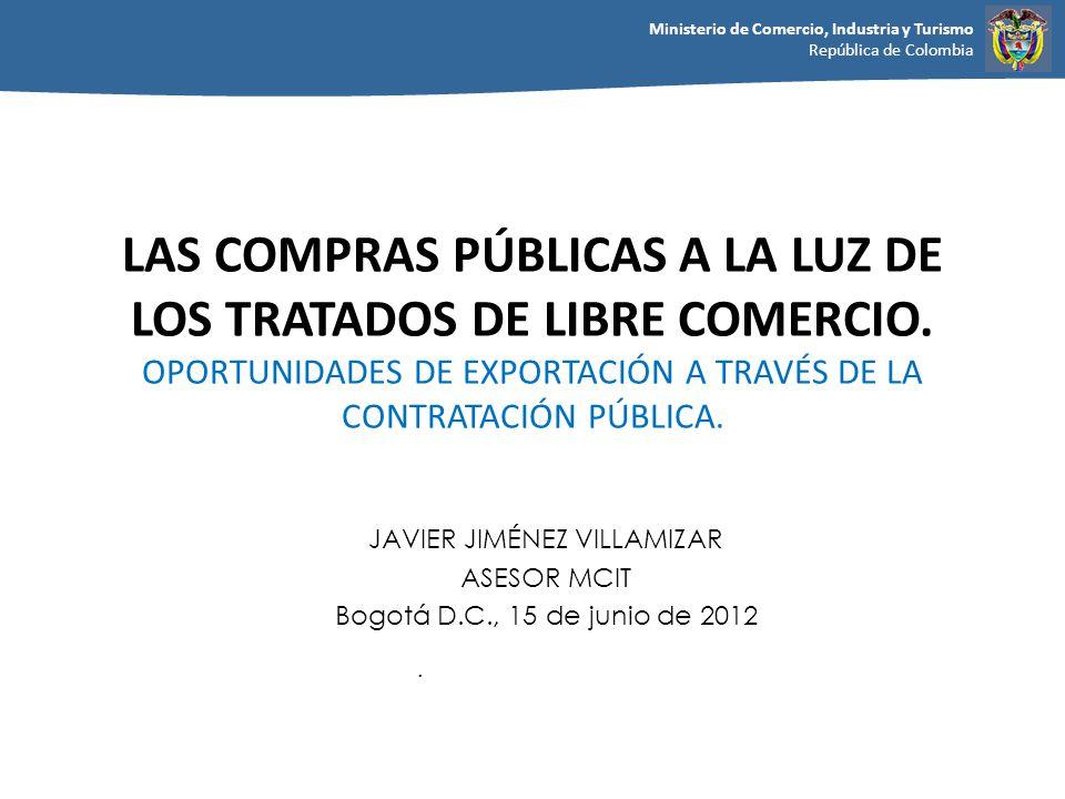 JAVIER JIMÉNEZ VILLAMIZAR ASESOR MCIT Bogotá D.C., 15 de junio de 2012