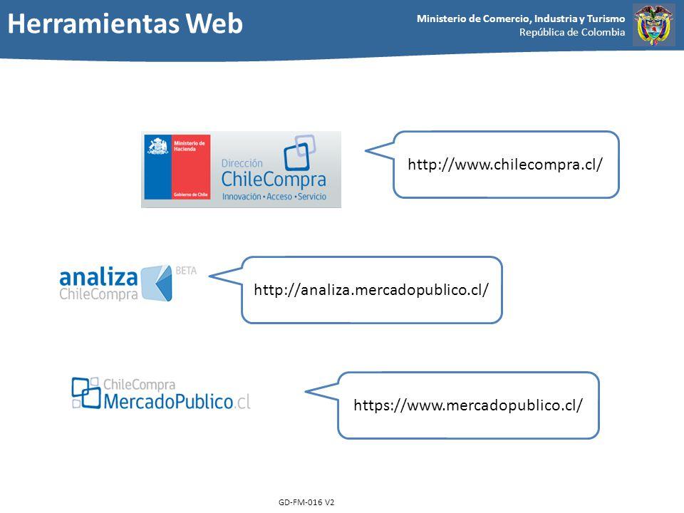 Herramientas Web http://www.chilecompra.cl/