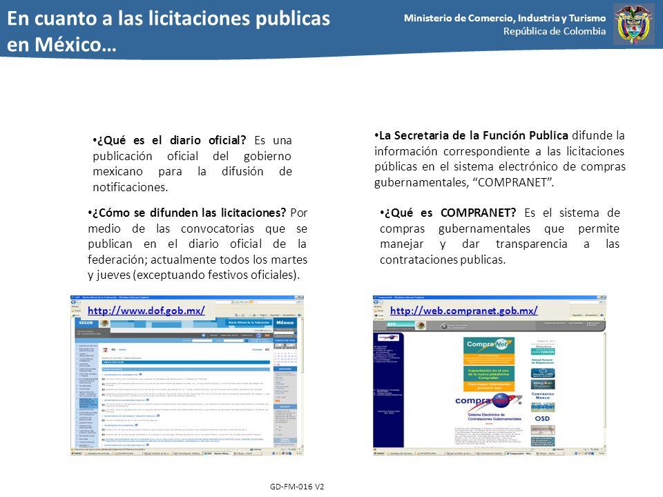 En cuanto a las licitaciones publicas en México…