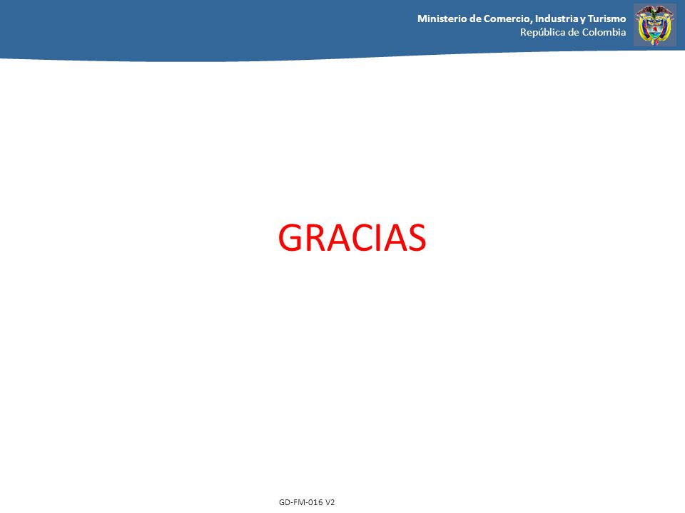 GRACIAS GD-FM-016 V2