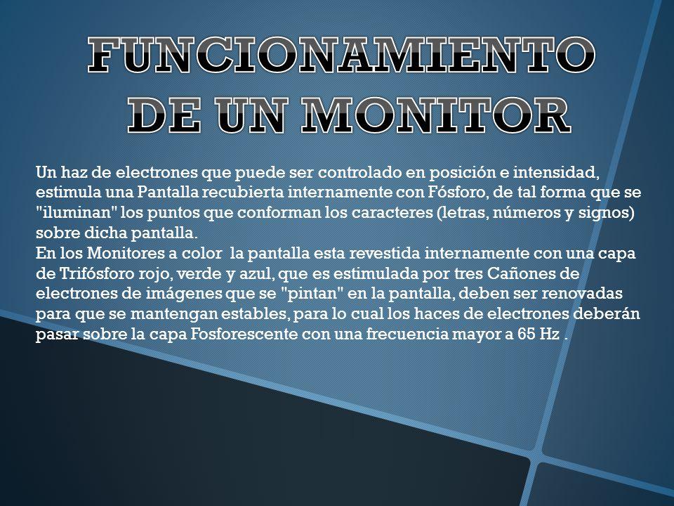 FUNCIONAMIENTO DE UN MONITOR