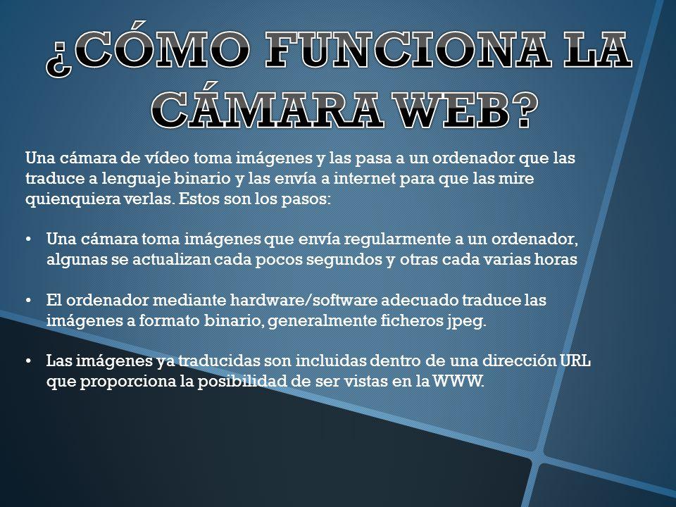 ¿CÓMO FUNCIONA LA CÁMARA WEB