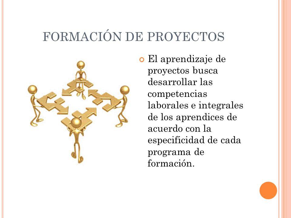 FORMACIÓN DE PROYECTOS