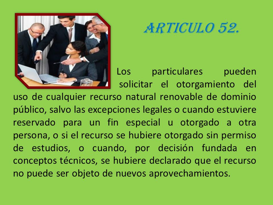 ARTICULO 52.