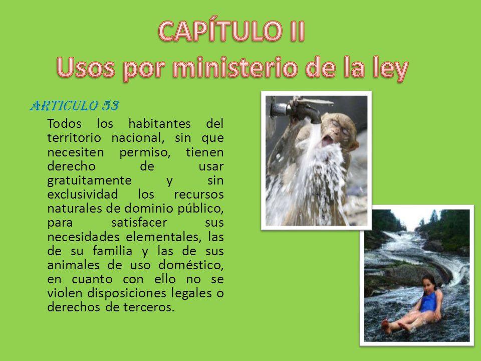 CAPÍTULO II Usos por ministerio de la ley