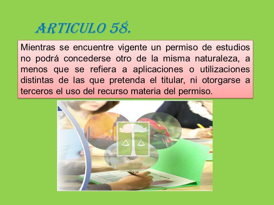 ARTICULO 58.