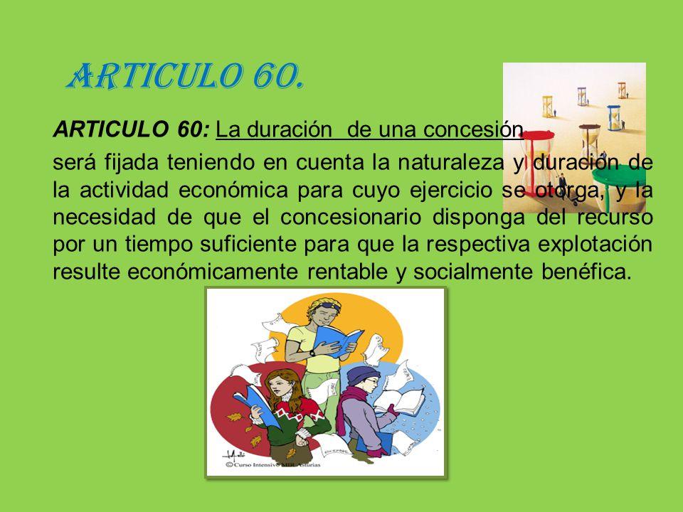 ARTICULO 60.