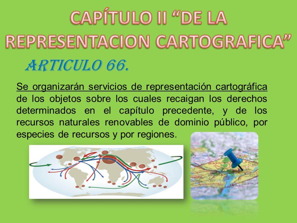 CAPÍTULO II DE LA REPRESENTACION CARTOGRAFICA