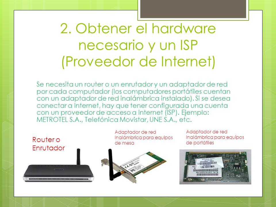 2. Obtener el hardware necesario y un ISP (Proveedor de Internet)