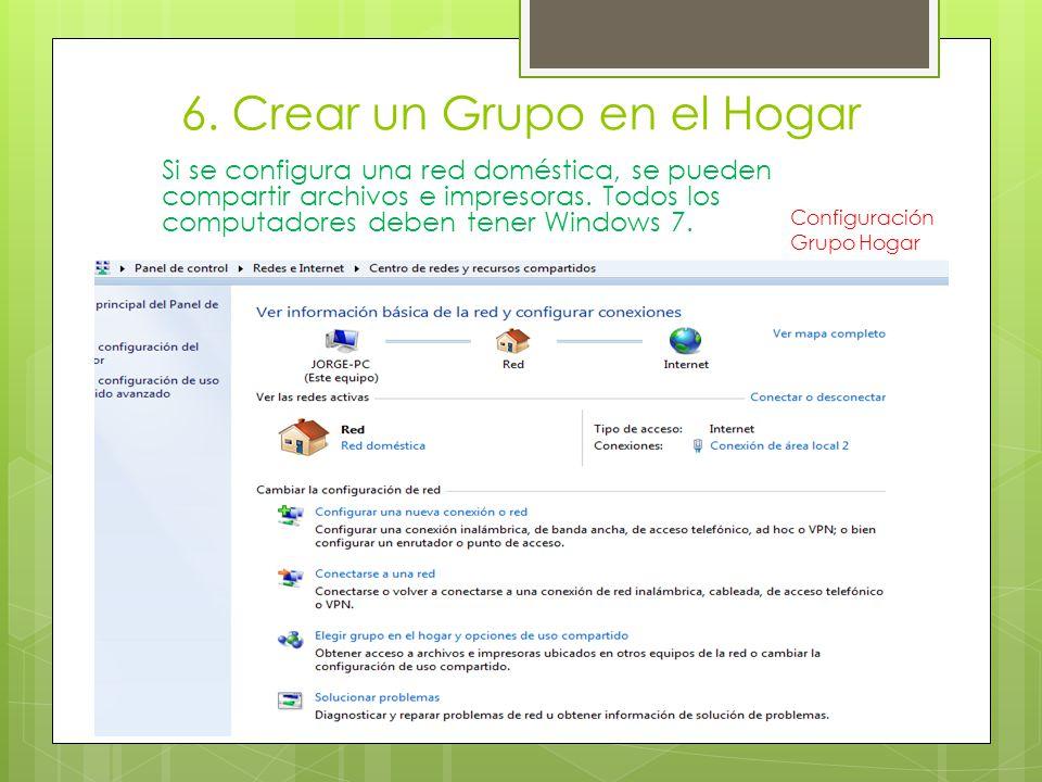 6. Crear un Grupo en el Hogar