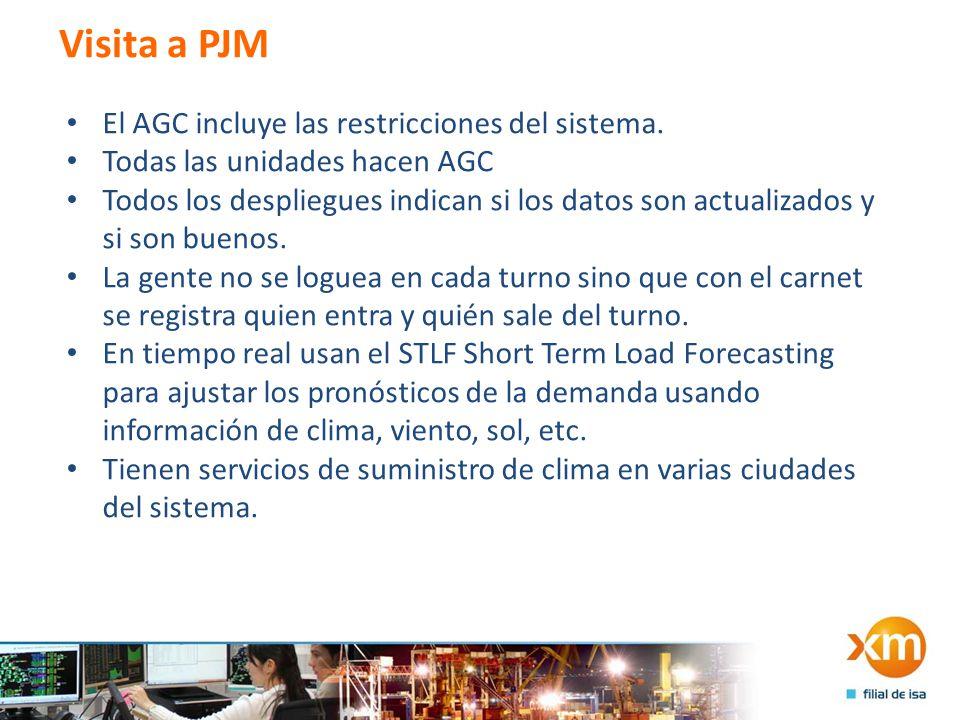 Visita a PJM El AGC incluye las restricciones del sistema.