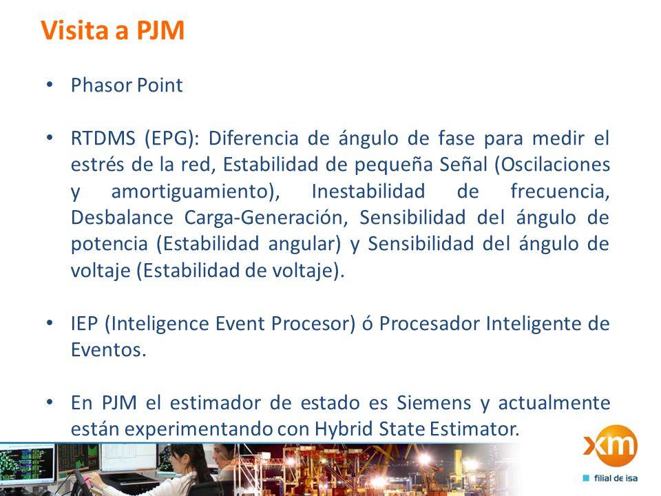 Visita a PJM Phasor Point