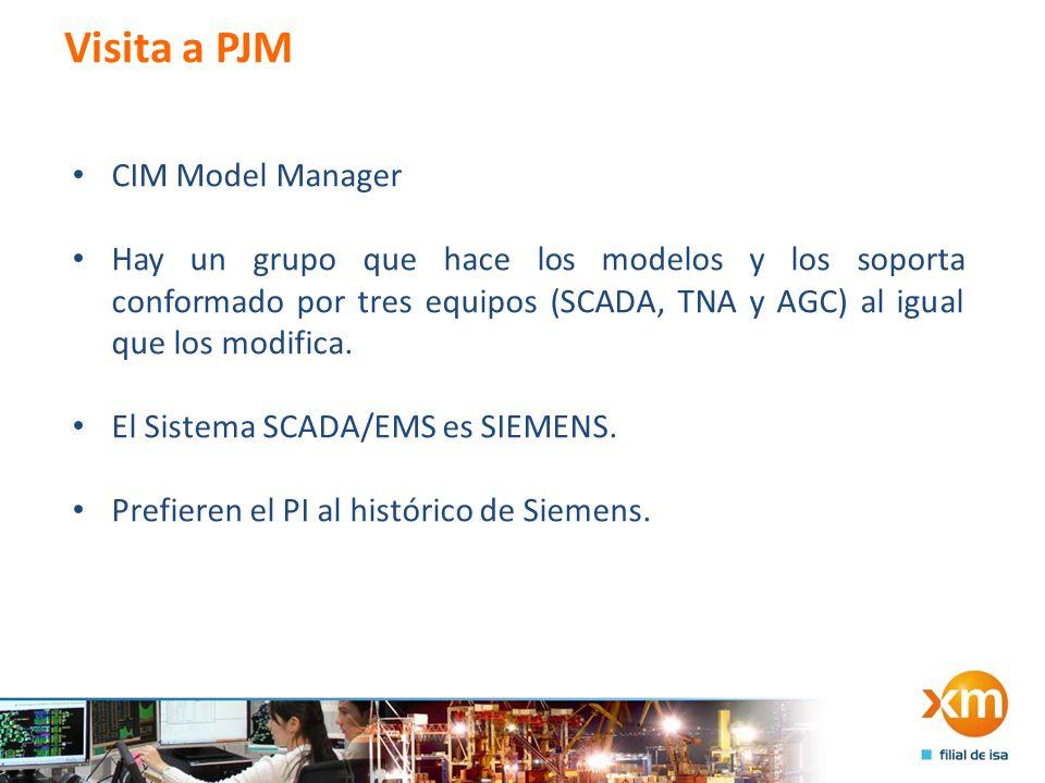 Visita a PJM CIM Model Manager