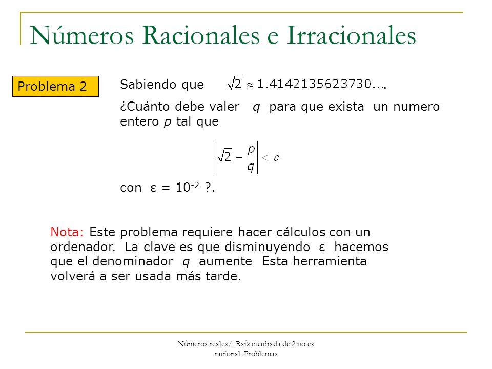 Números Racionales e Irracionales