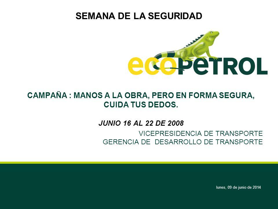 VICEPRESIDENCIA DE TRANSPORTE GERENCIA DE DESARROLLO DE TRANSPORTE