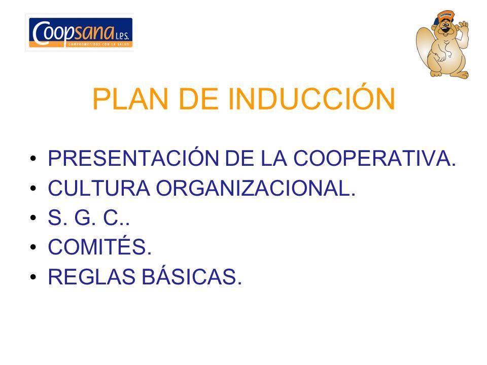 PLAN DE INDUCCIÓN PRESENTACIÓN DE LA COOPERATIVA.