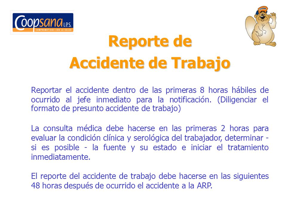 Reporte de Accidente de Trabajo
