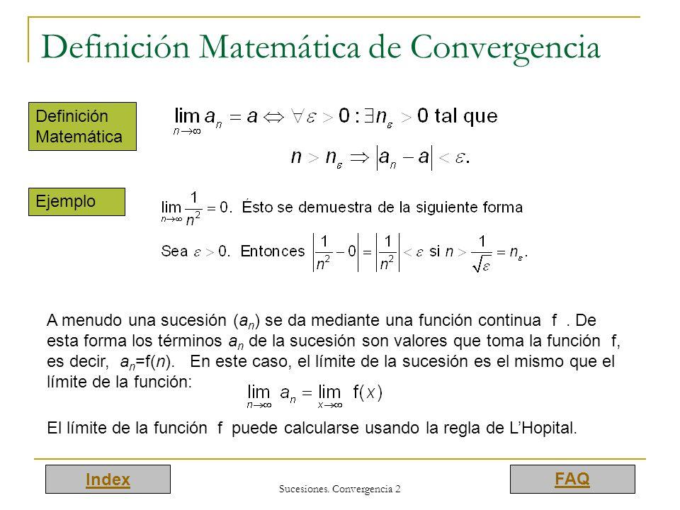 Definición Matemática de Convergencia