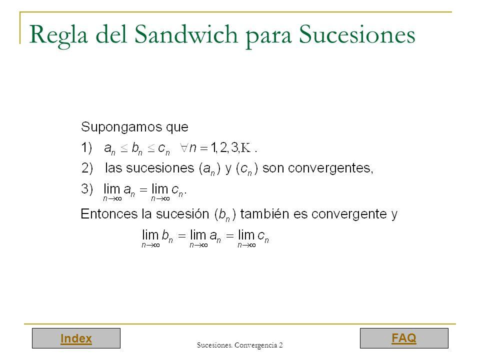 Regla del Sandwich para Sucesiones
