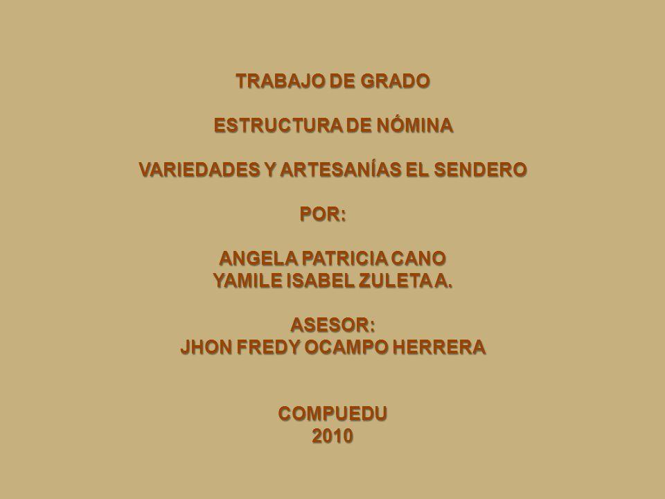 VARIEDADES Y ARTESANÍAS EL SENDERO JHON FREDY OCAMPO HERRERA