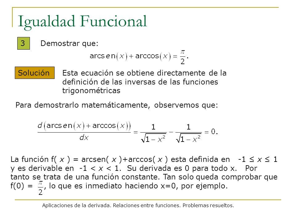 Igualdad Funcional 3 Demostrar que: Solución