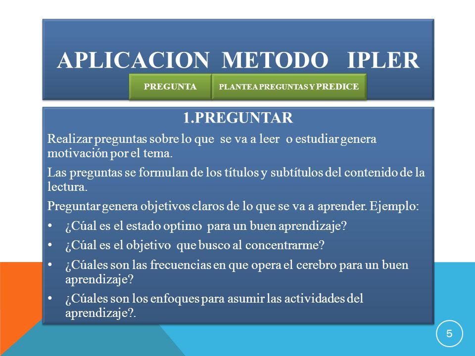 aplicacion Metodo ipler
