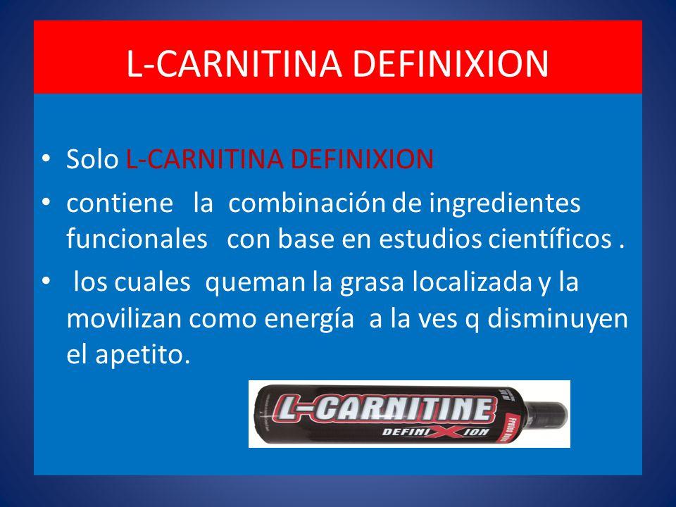 L-CARNITINA DEFINIXION