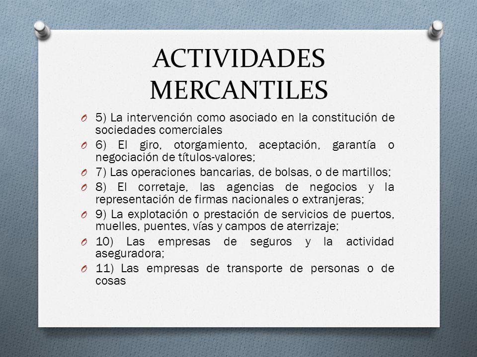 ACTIVIDADES MERCANTILES