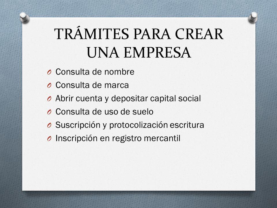TRÁMITES PARA CREAR UNA EMPRESA
