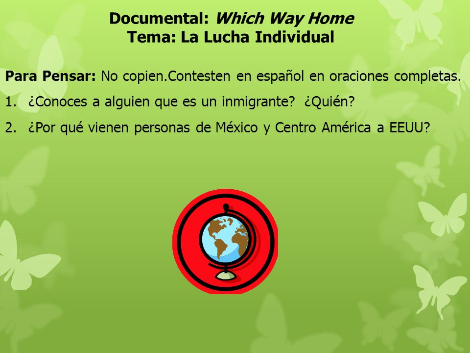 Documental: Which Way Home Tema: La Lucha Individual