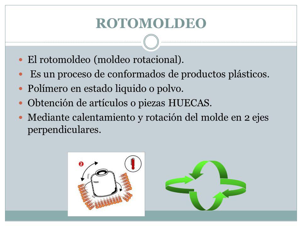 ROTOMOLDEO El rotomoldeo (moldeo rotacional).